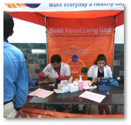 Health camp at P&G Baddi