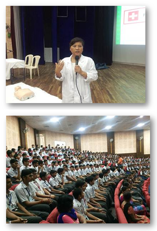 200 students attend First Aid & BLS training session